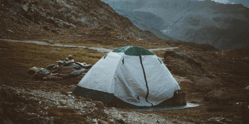 tarp under tent